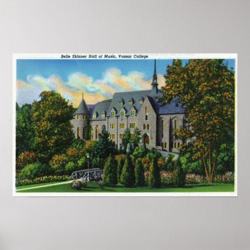 Belle Skinner Music Hall, Vassar College Poster
