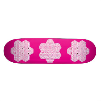 Belle Snored?-The Six Pointed Skateboard-Pink