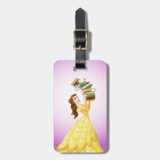 Belle | Stack Of Books Luggage Tag