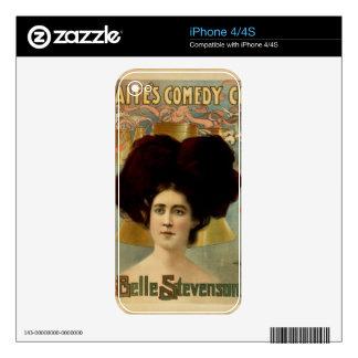 Belle Stevenson Skins For iPhone 4S