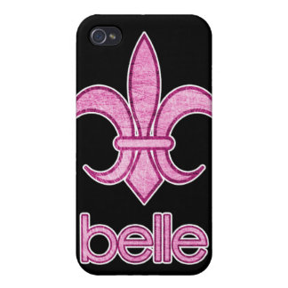 Belle Textured Fleur-de-Lis iPhone Case (dark) iPhone 4 Cover