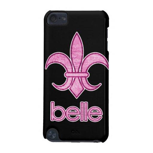 Belle Textured Fleur-de-Lis iPod Touch Case (dark)