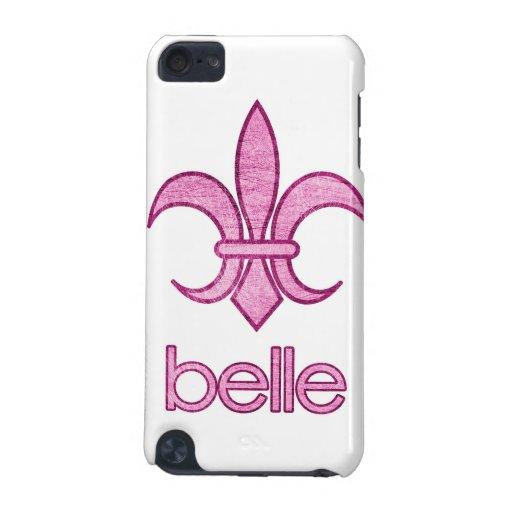 Belle Textured Fleur-de-Lis iPod Touch Case (lt.)