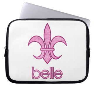 Belle Textured Fleur-de-Lis Laptop Case (light)