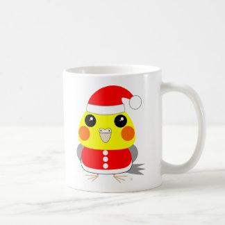 Belle the Cockatiel as Santa Claus – Christmas Classic White Coffee Mug