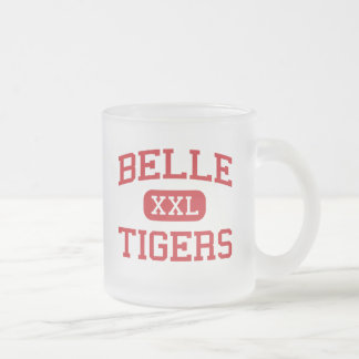 Belle - Tigers - High School - Belle Missouri 10 Oz Frosted Glass Coffee Mug