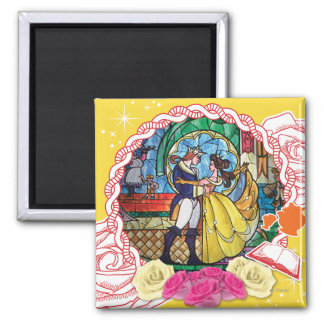 Belle - True of Heart 2 Inch Square Magnet