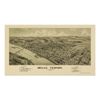 Belle Vernon, PA Panoramic Map - 1902 Poster