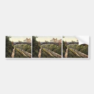 Belle Vue, Jubilee Bridge, Lowestoft, England rare Car Bumper Sticker