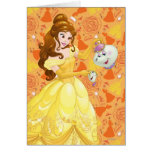 Belle with Mrs. Potts and Chip Card