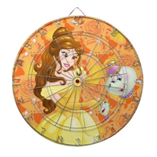 Belle with Mrs. Potts and Chip Dart Board
