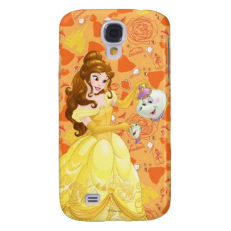 Belle with Mrs. Potts and Chip Galaxy S4 Case