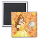 Belle with Mrs. Potts and Chip Magnet