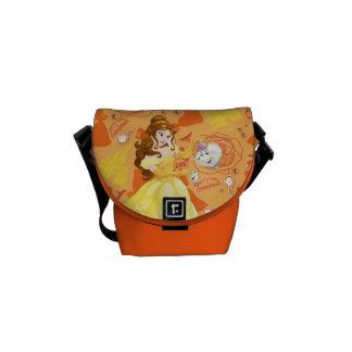 Belle with Mrs. Potts and Chip Messenger Bag