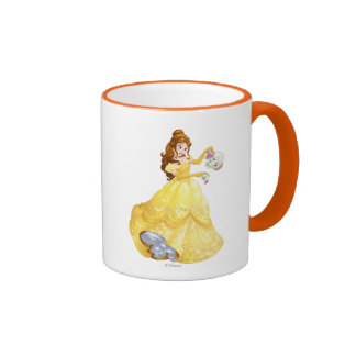 Belle with Mrs. Potts and Chip Ringer Coffee Mug