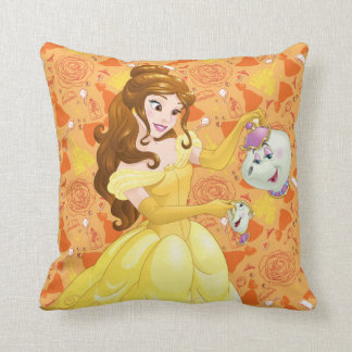 Belle with Mrs. Potts and Chip Pillow