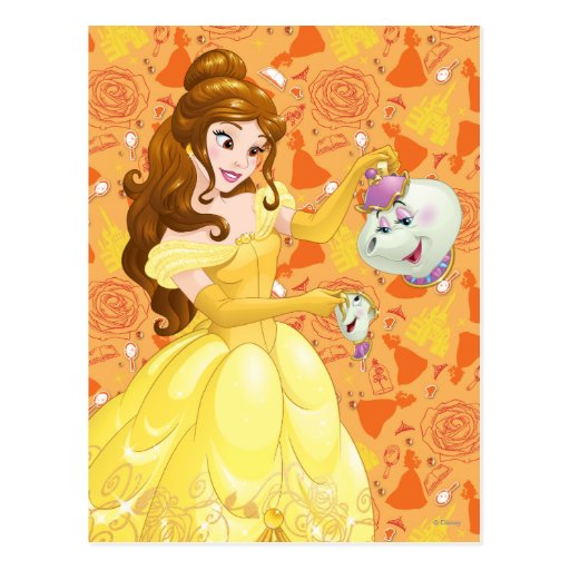 Belle with Mrs. Potts and Chip Post Card