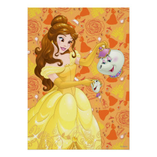 Belle with Mrs Potts and Chip Posters