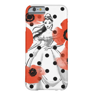 Belle With Poppies and Polka Dots Barely There iPhone 6 Case