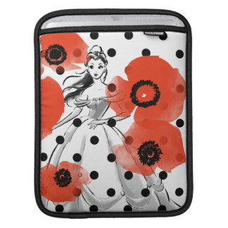 Belle With Poppies and Polka Dots iPad Sleeve