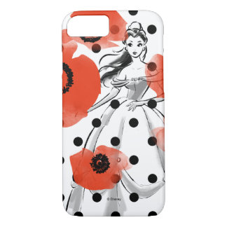 Belle With Poppies and Polka Dots iPhone 7 Case