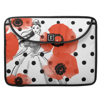 Belle With Poppies and Polka Dots Sleeve For MacBook Pro