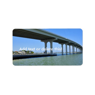 Belleair Beach Bridge Pinellas County Fl Label