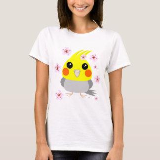 BelleBelle cockatiel/bird w/ Cherry Blossoms T-Shirt