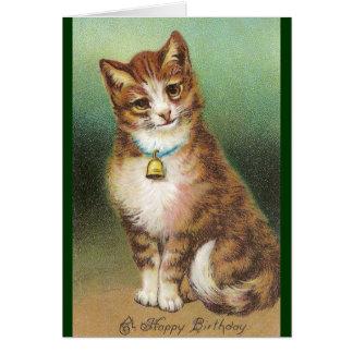 Belled Birthday Cat Greeting Card