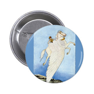 Bellerophon and Pegasus 2 Inch Round Button