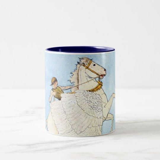 Bellerophon and Pegasus Two-Tone Coffee Mug