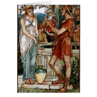 Bellerophon at the Fountain Greeting Cards