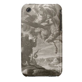 Bellerophon Fights the Chimaera, 1731 (engraving) Case-Mate iPhone 3 Cases