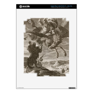 Bellerophon Fights the Chimaera, 1731 (engraving) iPad 3 Decal