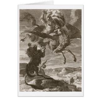 Bellerophon lucha las Quimeras, 1731 (el grabado) Felicitaciones