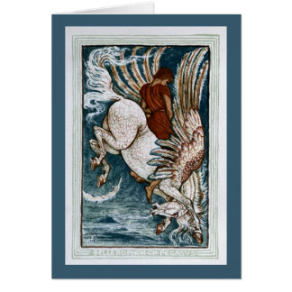 Bellerophon on Pegasus Card
