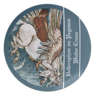 Bellerophon on Pegasus Dinner Plate