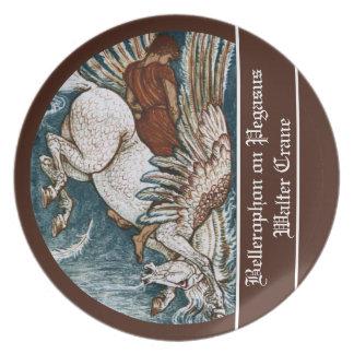 Bellerophon on Pegasus Melamine Plate