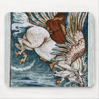 Bellerophon on Pegasus Mousepads