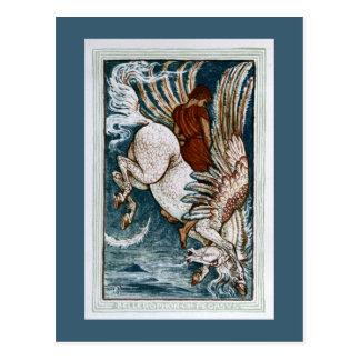 Bellerophon on Pegasus Postcard