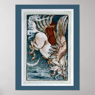 Bellerophon on Pegasus Print