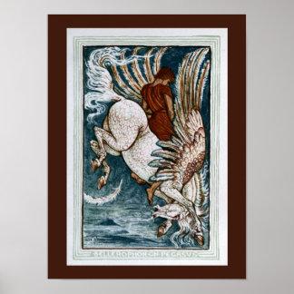 Bellerophon on Pegasus Posters