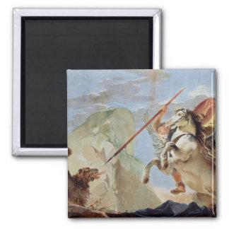 Bellerophon, Pegaso que monta, matando las Quimera Imán De Frigorífico