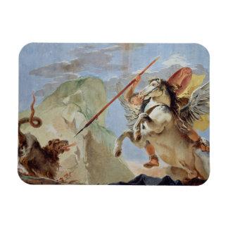 Bellerophon, Pegaso que monta, matando las Quimera Imán