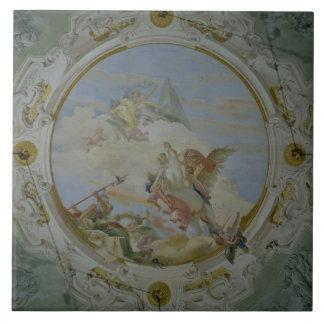 Bellerophon que monta Pegaso, c.1746-47 (fresco) Azulejo Cuadrado Grande