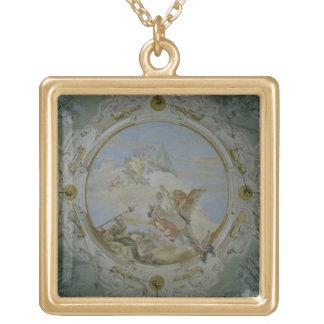 Bellerophon Riding Pegasus, c.1746-47 (fresco) Gold Plated Necklace