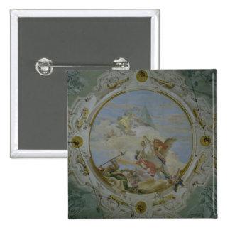 Bellerophon Riding Pegasus, c.1746-47 (fresco) Pinback Button