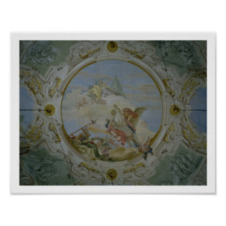 Bellerophon Riding Pegasus, c.1746-47 (fresco) Poster