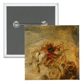 Bellerophon Riding Pegasus Fighting the Chimaera Pinback Buttons