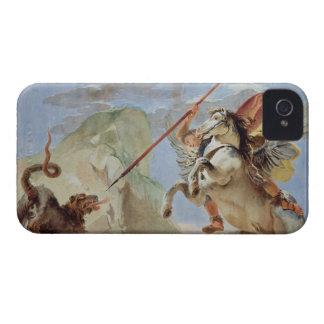 Bellerophon, riding Pegasus, slaying the Chimaera, iPhone 4 Cover